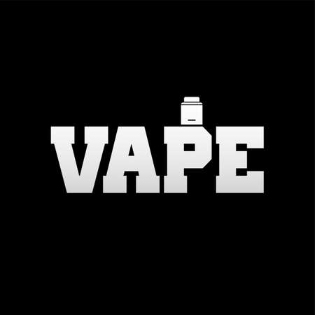 Vaporizer electric cigarette text design.