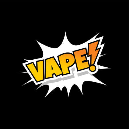 Vape text pop art design Illustration
