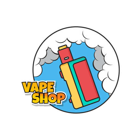 A vaporizer electric cigarette design Illustration