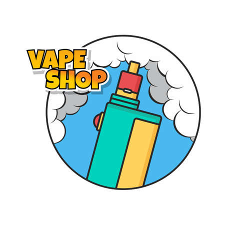 A vaporizer electric cigarette design. Illustration
