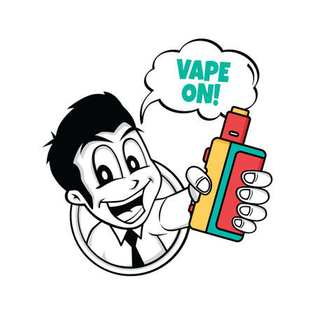 gripping: A vaporizer electric cigarette design. Illustration