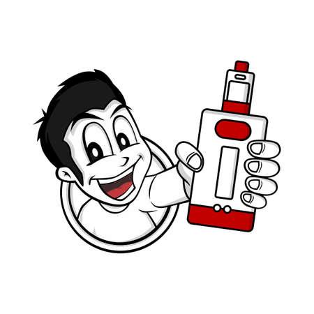 Man holding vaporizer mod Illustration