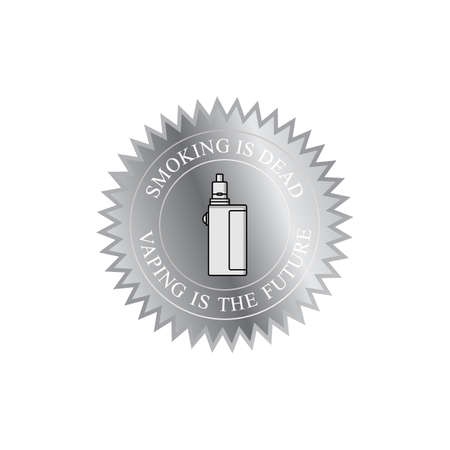 Vaporizer electric cigarette badge label