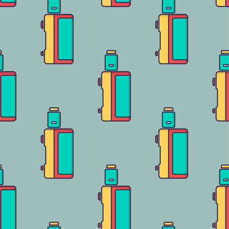 seamless pattern electronic cigarette vaporizer vector art Illustration