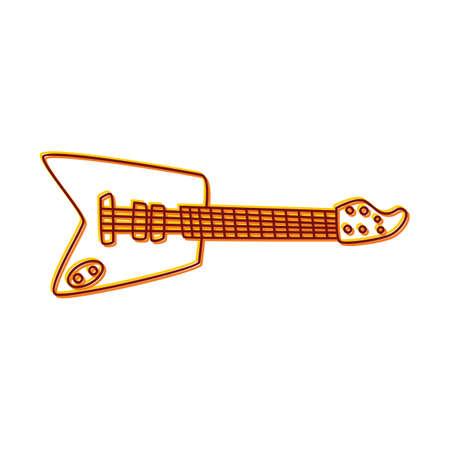 Guitar doodle sketch cartoon in isolated background Ilustração