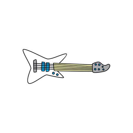 guitar music instrument doodle sketch cartoon vector art