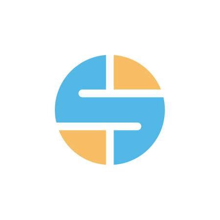 Round circle shape style icon logo vector art.