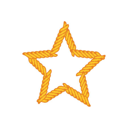 Star lasso rope vector art.
