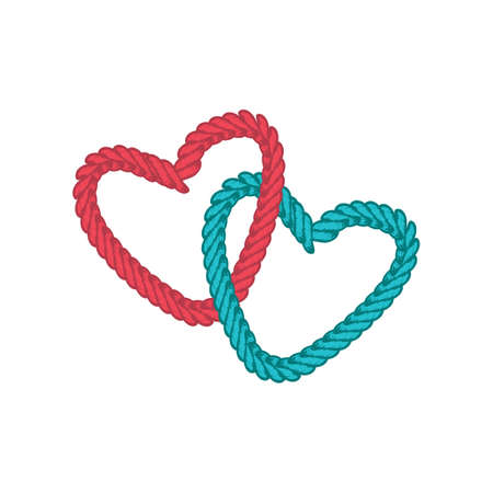 Love lasso rope vector art.