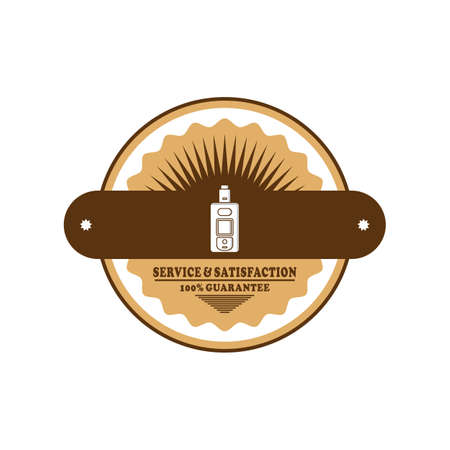 Electric cigarette badge label template vector art