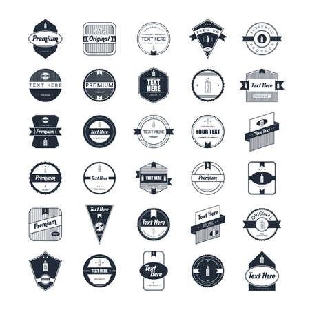 Electric cigarette badge label template vector art
