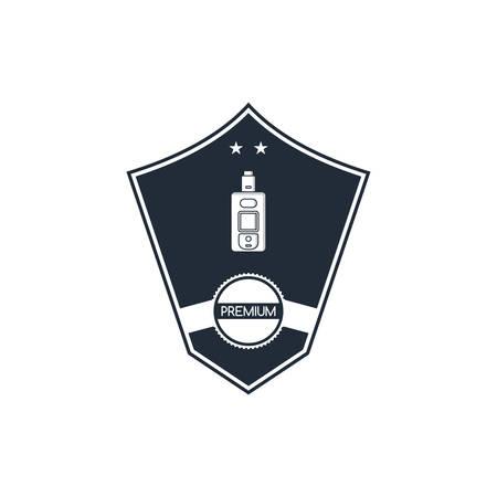 electric cigarette badge label template vector art Ilustração