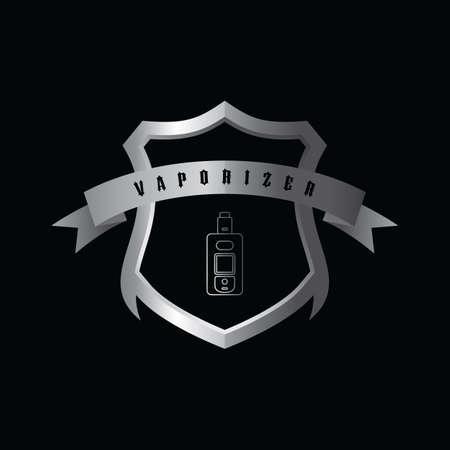 Electric cigarette personal vaporizer vector art