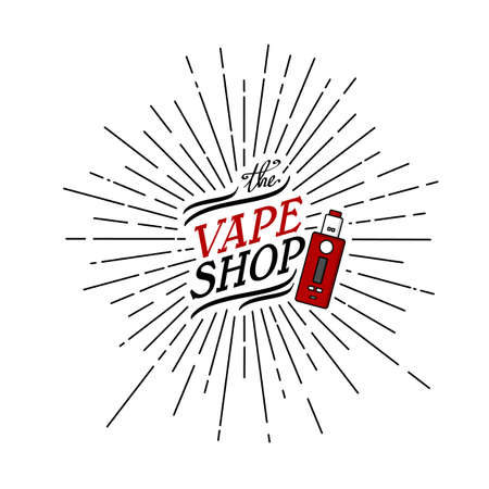 Sunray burst electric cigarette personal vaporizer vector art