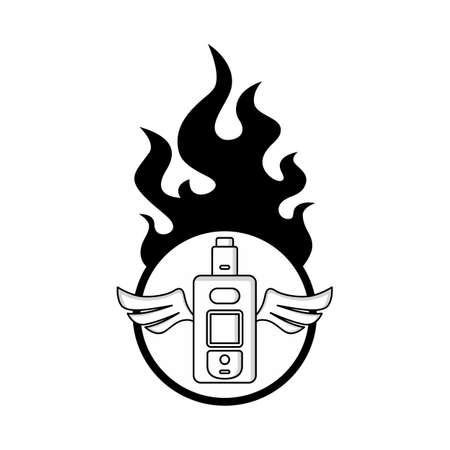Electric cigarette personal vaporizer vector art illustration Ilustração