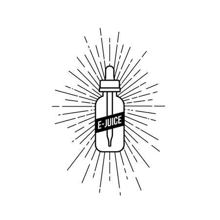 personal vaporizer e-cigarette e-juice liquid vector art Ilustração
