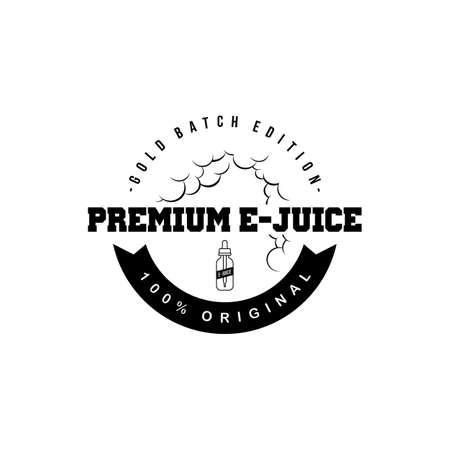 personal vaporizer e-cigarette e-juice liquid vector art Illustration