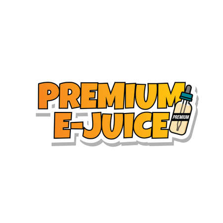 premium e-juice personal vaporizer e-cigarette liquid vector art