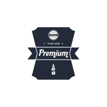 personal vaporizer e-cigarette e-juice liquid label badge vector art set Ilustracja