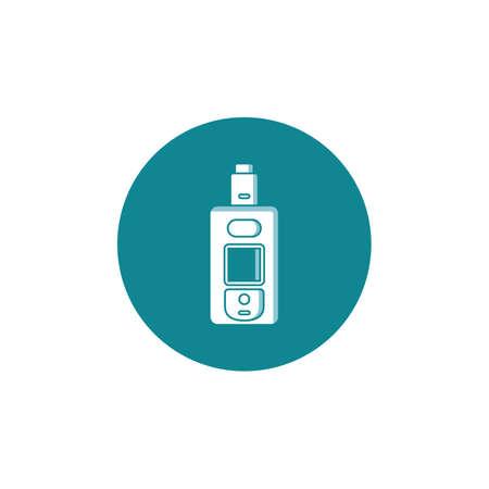 personal vaporizer e-cigarette icon sign vector art Illustration