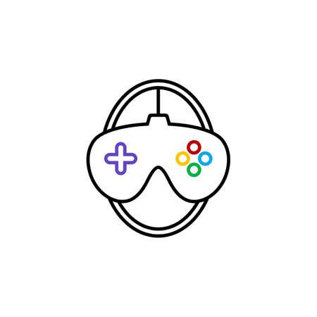 video game console joystick theme template vector