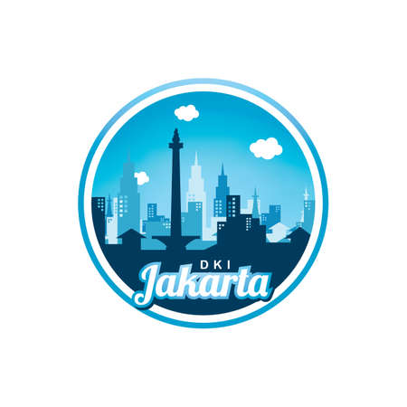 city of Jakarta label badge sticker template vector Stock Vector - 94223865