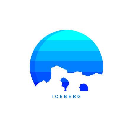 antarctica theme ice berg logo template vector Illustration