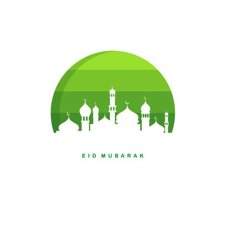 ramadan kareem eid mubarak celebration label tag badge vector