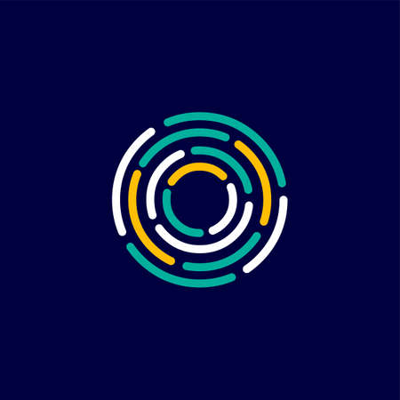 O template logo identité de lettre vecteur