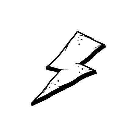 wrath thunder bolt theme sign vector Illustration
