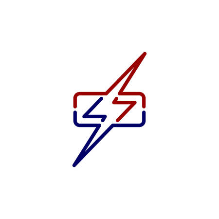 wrath thunder bolt theme sign vector art Illustration