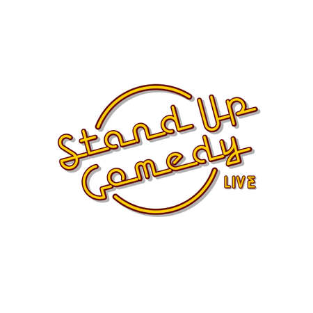 stand up comedy neon sign lamp vector art illustration