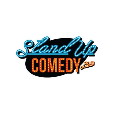 stand up comedy open mic vector art illustration Vectores