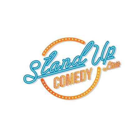 stand up comedy open mic vector art illustration Vettoriali
