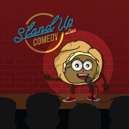 stand up comedy cream puff open mic vector