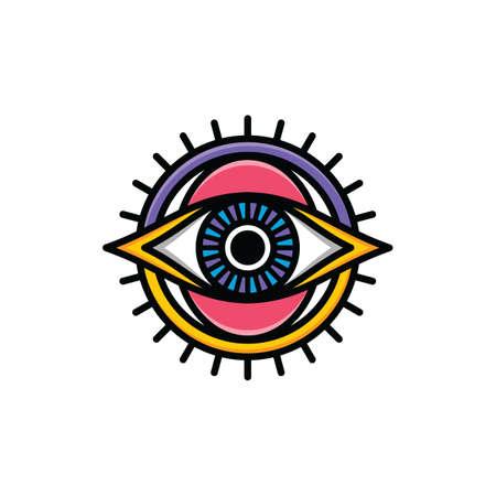 One eye of god symbol vector