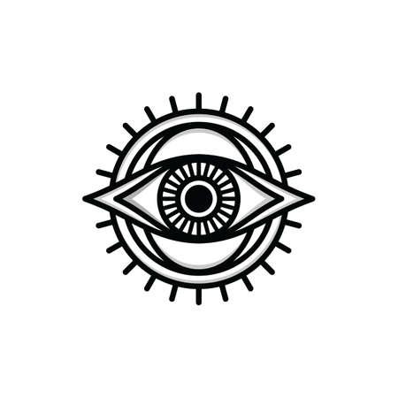 one eye sign symbol logo logotype vector