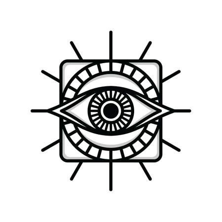 One Eye Sign Symbol Logo Logotype Vector Royalty Free Cliparts