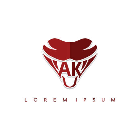 snake sign symbol icon logo logotype template vector
