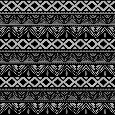 Seamless native pattern background vector art illustration Vettoriali