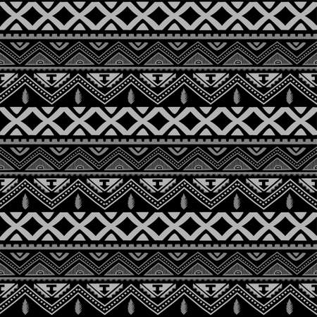 Seamless native pattern background vector art illustration Stock Illustratie
