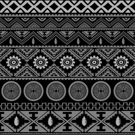 Seamless native pattern background vector art illustration Ilustração