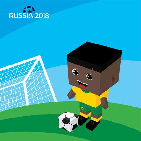 Group team russia soccer tournament 2018 vector art