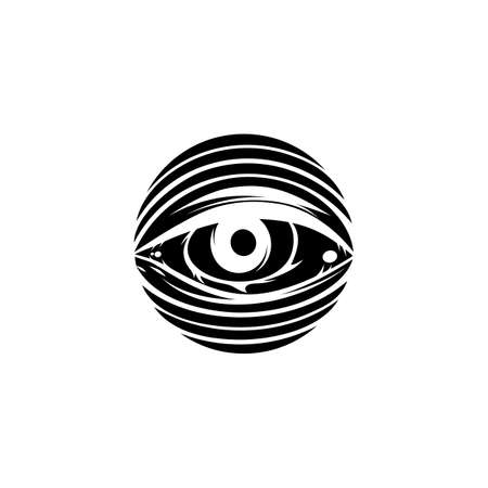 all seeing eye theme template vector art Illustration