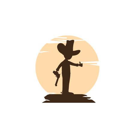 marshall sheriff silhouette vector art illustration