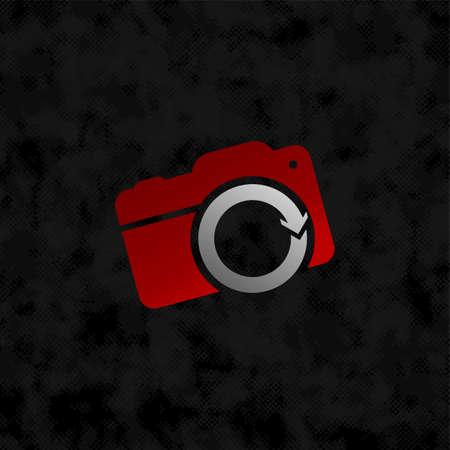camera photograpy sign symbol vector art illustration Ilustração