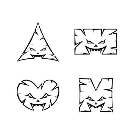monstruo personaje signo símbolo arte vectorial