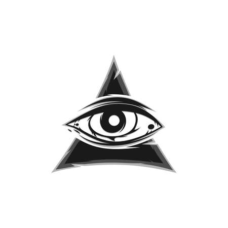 all seeing eye sign symbol vector art