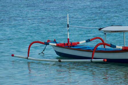Beach view wood fish boat photo