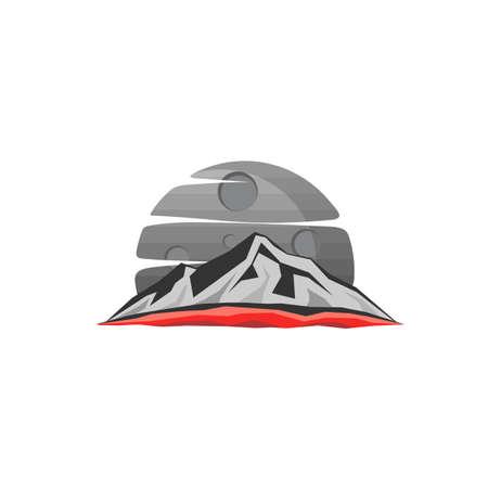 mountain theme sign symbol vector art